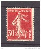 France  :  Yv  160  **                     ,    N2 - 1906-38 Semeuse Camée