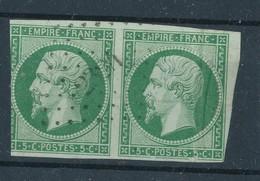 N°12 PAIRE LOSANGE PETITS CHIFFRES. - 1853-1860 Napoleon III