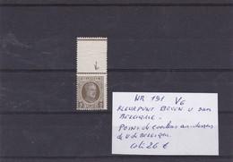 KONING ROI ALBERT I   VARITEIT VARIETES NR 191 V6 - Variétés Et Curiosités