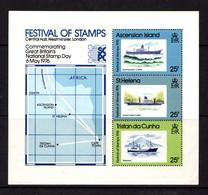 ASCENSION  ISLANDS    1976    Festival  Of  Stamps   Sheetlet    MNH - Ascension