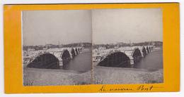 Photo Stéréoscopique 45 Orléans Le Nouveau Pont En Construction - Photos Stéréoscopiques