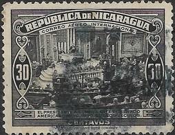NICARAGUA 1940 Air. President's Visit To USA - 30c Pres Somoza Addressing Senate AVU - Nicaragua