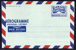 ICELAND 1957 175 Aur. Aerogramme, Unused.  Michel LF9 - Entiers Postaux