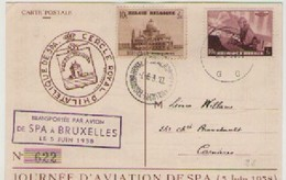 JOURNEE   D'AVION  DE  SPA  5  JUIN  1938 - Belgique