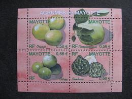 Mayotte: TB Feuille N°224 Au N° 227, Neuve XX . - Mayotte (1892-2011)