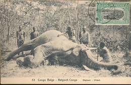 BELGIAN CONGO PPS 1912 ISSUE STIBBE 43 VIEW 53 CTO - Entiers Postaux