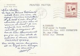 """CP De D'Afrique Du Sud - Pub. Papier à Dessin """"ARCHES ... """" T. à D. De Windhoek. - Autres - Afrique"""