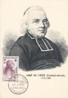 Abbé De L'Epée No 1226 Sur Carte Maximum CaD De Versailles Du 5 Dec 1959 - Maximum Cards