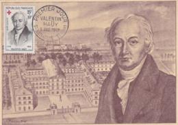 Valentin Haüy  No 1227 Sur Carte Maximum CaD De St Just En Chaussée Du 5 Dec 1959 - Maximum Cards