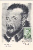 Joachim Du Bellay No 1166 Sur Carte Maximum CaD De Lire Du 7 Juin 1956 - Maximum Cards