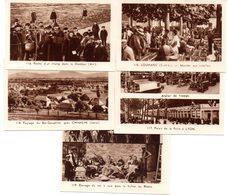 Lot De 5 Images Photos Régionales. Lyon, Louhans, La Dombes, Vallée Du Rhône, Bas Dauphiné, Chimilin. - Vieux Papiers