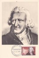 Parmentier  No 1081 Sur  Carte Maximum   CaD De Montdidier Du 27 Oct 1956 - Maximum Cards