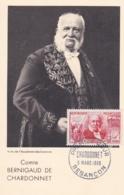 Bernigaud De Chardonnet  No 1017  Sur Carte Maximum   CaD De Besançon Du 5 Mars 1955 - Maximum Cards