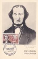 Thimonnier  No 1012  Sur Carte Maximum   CaD De L'Arbresle Du 5 Mars 1955 - Maximum Cards