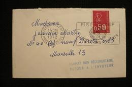 Petite Enveloppe Griffe Format Non Réglementaire Retour Envoyeur 1972 Marseille Béquet - Poststempel (Briefe)