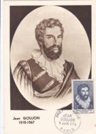 Jean Goujon  No 1067  Sur Carte Maximum   CaD De Paris Du 9 Juin 1956 - Maximum Cards