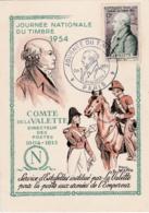 Lavalette  No 969  Journée Du Timbre 1954  Avec Faute D'orthographe Dans Le Cachet Lavalette Avec 2 L - Maximum Cards