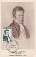 Laennec  No 936 Sur Carte Maximum CaD De Quimper Du 7 Nov 1952 - Maximum Cards