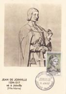 Jean De Joinville   No 1108 Sur Carte Maximum CaD De Joinville Du 15 Juin 1957 - Maximum Cards