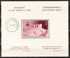 BL8*  Monument Albert Ier - MH* - LOOK!!!! - Blocs 1924-1960