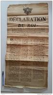 AFFICHE  DECLARATION DU ROI 6 Octobre 1788 Convocation Des Etats Généraux Janvier 1789  Rouen Parlement - Documents Historiques