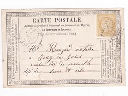 CP De 1873 Envoyée à M Ranjard Notaire à 78 Jouy En Josas Pour Circuler En France Et Algérie VOIR DOS - Jouy En Josas