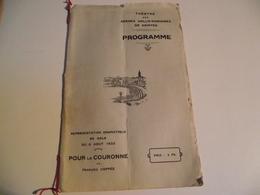 SAINTES, Programme, 1933, Pour La Couronne, Arènes Gallo Romaines - Programmes