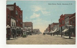 ABERDEEN, South Dakota, USA, Both Sides Of Mian Street North, Stores, Pre-1920 Postcard - Aberdeen
