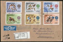 MAROKKO, Royaume Du Maroc, Olympia 1968 Auf R-Brief Von CASABLANCA Nach MÜNSTER - Morocco (1956-...)