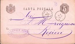 Postal History: Romania Postal Stationary From 1890 - Postal Stationery