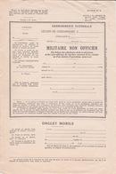 MILITARIA - DOCUMENT GENDARMERIE NATIONALE - TITRE DE ABSENCE - NON OFFICIER - - Documents
