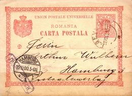 Postal History: Romania Postal Stationary From 1900 - Postal Stationery