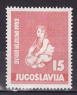 Yugoslavia 1952 Childrens Week, MNH (**) Michel 696 - Unused Stamps
