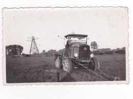 Photo Originale Travaux Tracteur Engin Spécial De L'Entreprise Industrielle De Paris Pose Lignes Electrique ? - Berufe