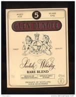 Etiquette De Scotch  Whisky  -  Glen Dundee -   Ecosse - Whisky