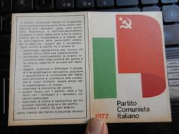 19830) TESSERA PARTITO COMUNISTA ITALIANO 1977 CON BOLLI PISA - Documents Historiques