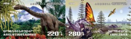 Armenia Arménie Armenien 2018 Mi 1091 Flora Fauna Ancient World Dinosaur Argentinosaurus Tapejara MNH** - Arménie