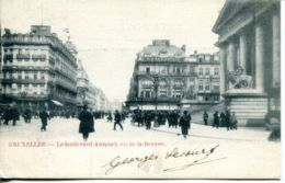 N°70024 -cpa Bruxelles -le Boulevard Anspach Vu De La Bourse- - Avenues, Boulevards