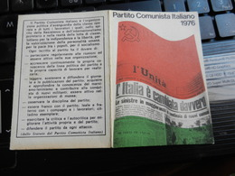 19830) TESSERA PARTITO COMUNISTA ITALIANO 1976 CON BOLLI PISA - Documents Historiques