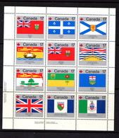 CANADA    1979    Canada  Day  Flags   Sheetlet    MNH - 1952-.... Reign Of Elizabeth II