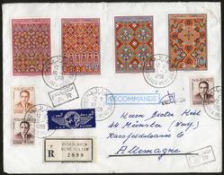 MAROKKO, Royaume Du Maroc, Kunstgewerbe 1968 Auf R-Brief Von CASABLANCA Nach MÜNSTER - Morocco (1956-...)