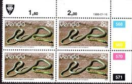 Venda - 1986 Reptiles 8c Control Block (1986.01.16) (**) - Venda