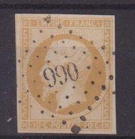 """FRANCE : PC 990 . """" COUR ST MAURICE OU BELLEHERBE """" . (24) . N° 13 . TB . - Marcophilie (Timbres Détachés)"""