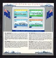 TRISTAN  DA  CUNHA    1978    Royal  Fleet  Auxiliary  Vessels   Sheetlet    MNH - Tristan Da Cunha