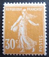 R1680/232 - 1907 - TYPE SEMEUSE - N°141 NEUF* - Cote : 17,00 € - France