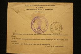 """Rare Enveloppe 1899 Publicité """"rendre Liberté Dimanche Aux Facteurs"""" Saint Rosaire Sainte Vierge - 1876-1898 Sage (Type II)"""