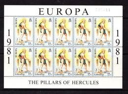 GIBRALTAR    1981    Europa  Folklore   Sheetlet    MNH - Gibraltar