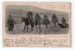 Caucasian Types. Сoal Miner, Horse And Donkeys. - Géorgie