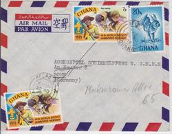 GHANA AFLAO TO BONN 1978 AIR MAIL COVER HARE JAMBOREE-NORWAY 1975 LETTRE TIMBRE SCOUTISME SCOUTS - Scoutisme