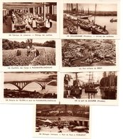 Lot De 7 Images Photos Régionales Bretagne. Quimper, Douarnenez, Huelgoat, Brest, Plougastel-Daoulas, Une Conserverie - Vieux Papiers